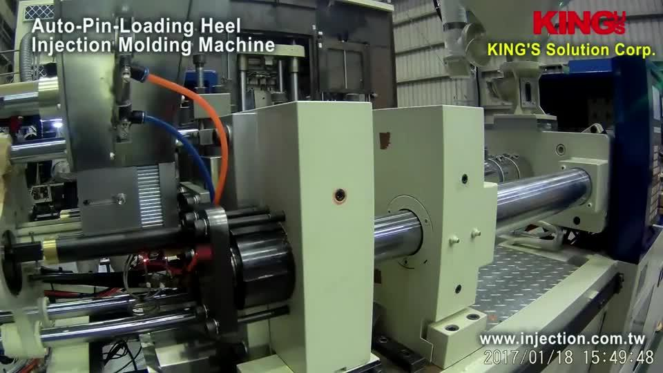 Auto Pin Loading Heel Injection Molding Machine-Testing