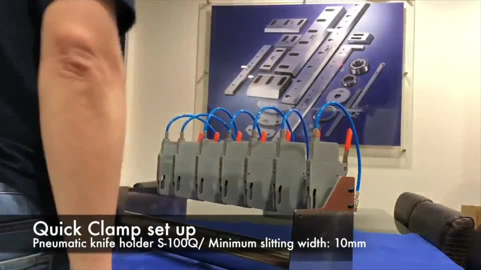Pneumatic knife holder S-100Q quick clamp set up