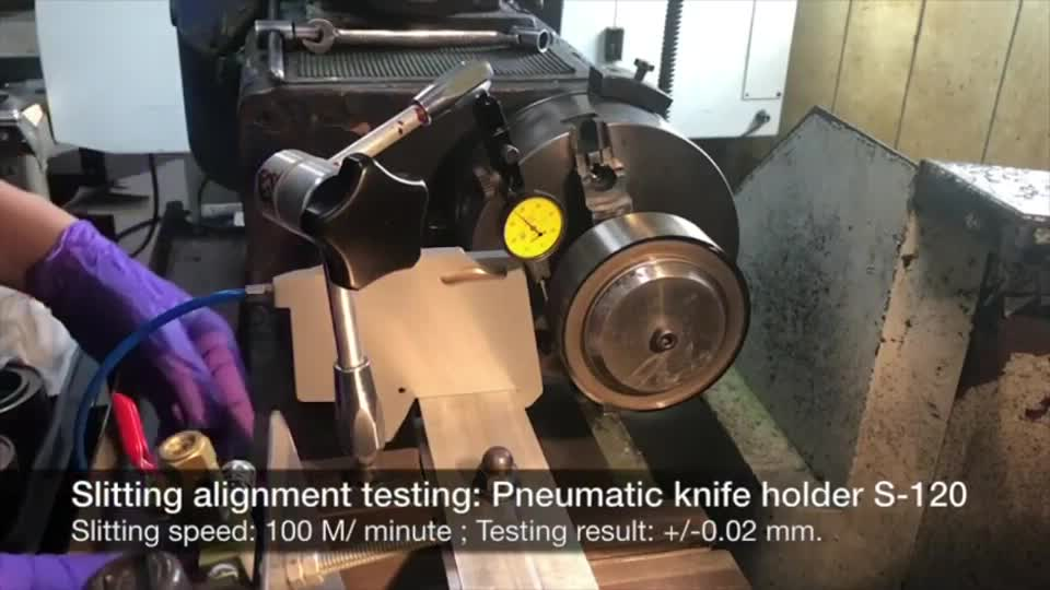 Pneumatic knife holder S-120 Slitting alignment testing